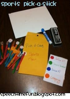 Sports Pick-A-Stick: An easy and quick DIY lesson plan to