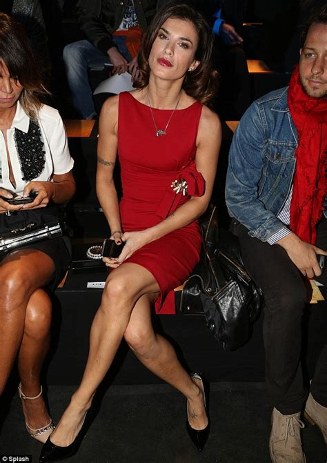 Elisabetta Canalis goes from glamorous to casual as she