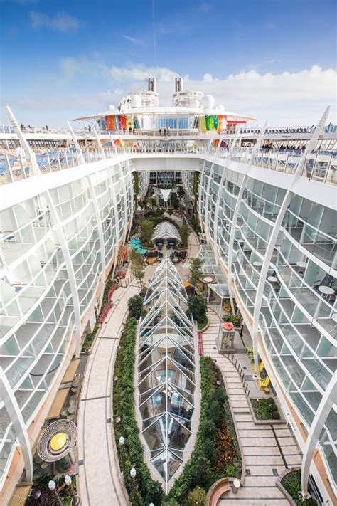The world's largest cruise ship begins its maiden voyage