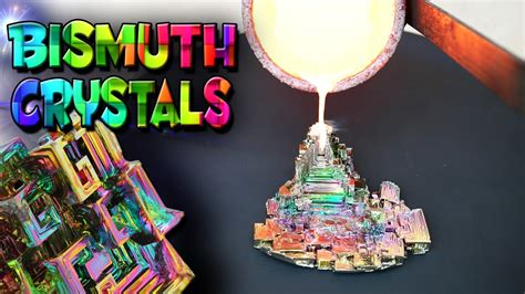 Molten Copper vs Bismuth Crystals - YouTube