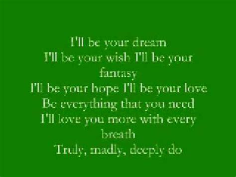 Truly, Madly, Deeply - Savage Garden With Lyrics Chords