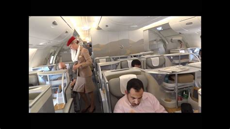 Business class experience Emirates A380 - YouTube