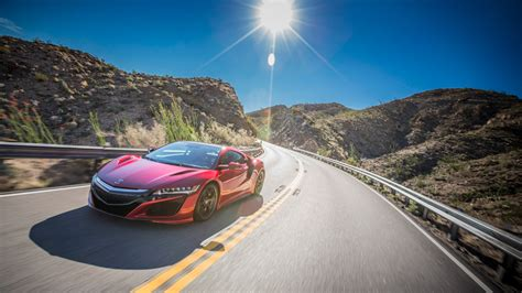 Wallpaper Acura NSX, Red, 2017, 4K, Automotive / Cars