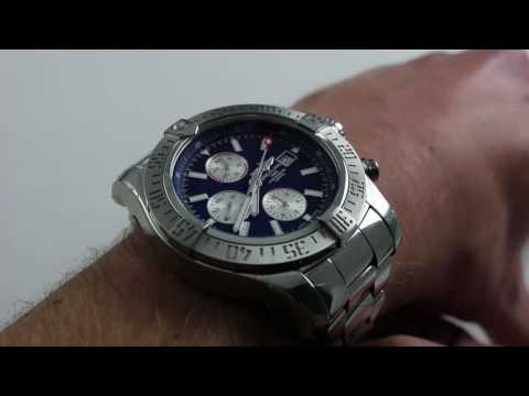 [Breitling Super Avenger II] Large 48mm watch on small