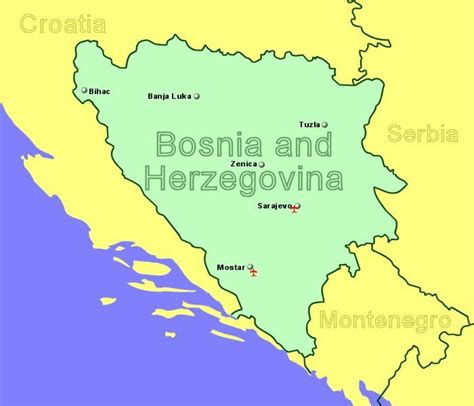Bosnia and Herzegovina Airports with Flights from the UK