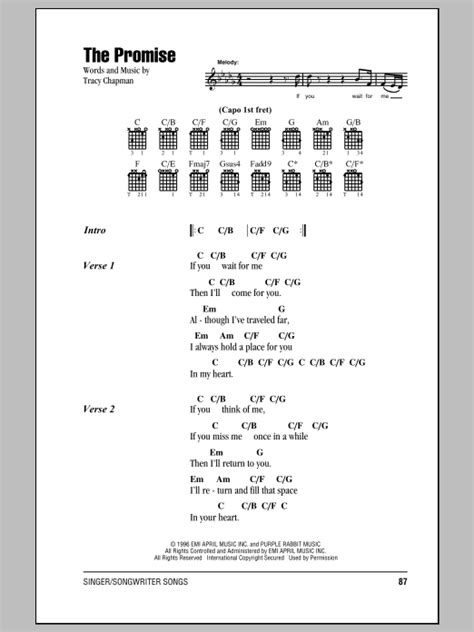The Promise   Sheet Music Direct