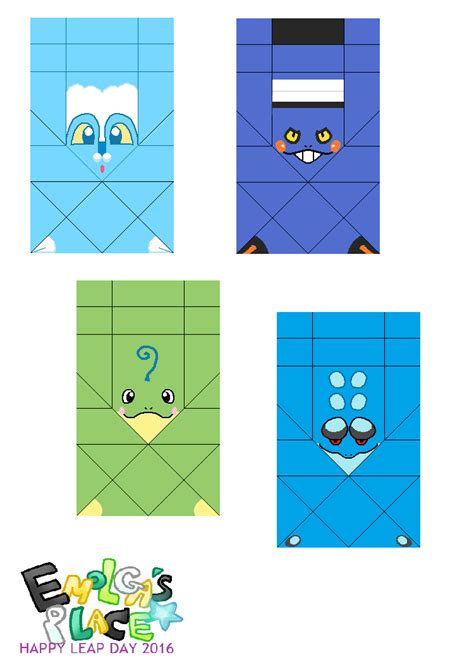 What Soda Place: Pokemon and Frog Origami Templates: Happy
