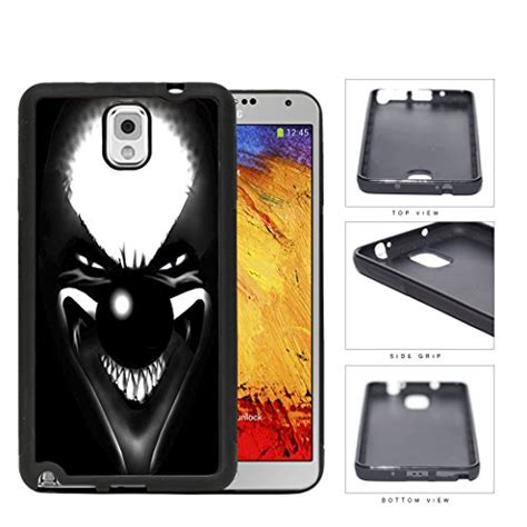 Evil Clown Scary Face Mask Rubber Silicone TPU Cell Phone
