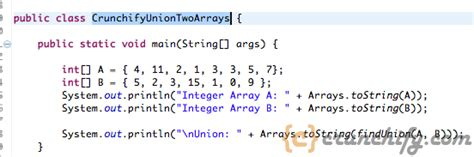 Java: Union of Two Arrays using Primitive Data Types