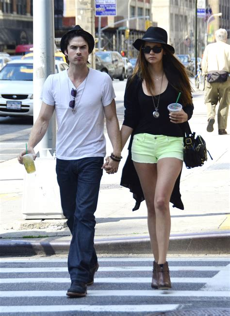 NINA DOBREV and Ian Somerhalder Out and About in New York