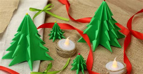 Fold A Forest-Full Of Paper Christmas Trees - Home