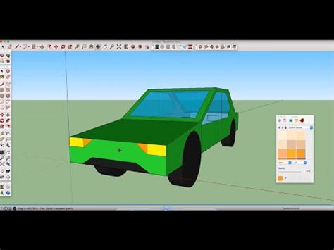 How to Easily Create 3D Car in Google Sketchup - YouTube