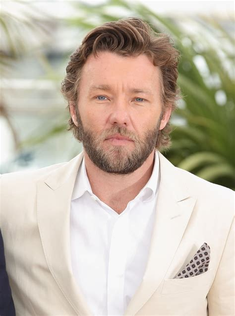 Joel Edgerton wore a white suit to the photocall for The